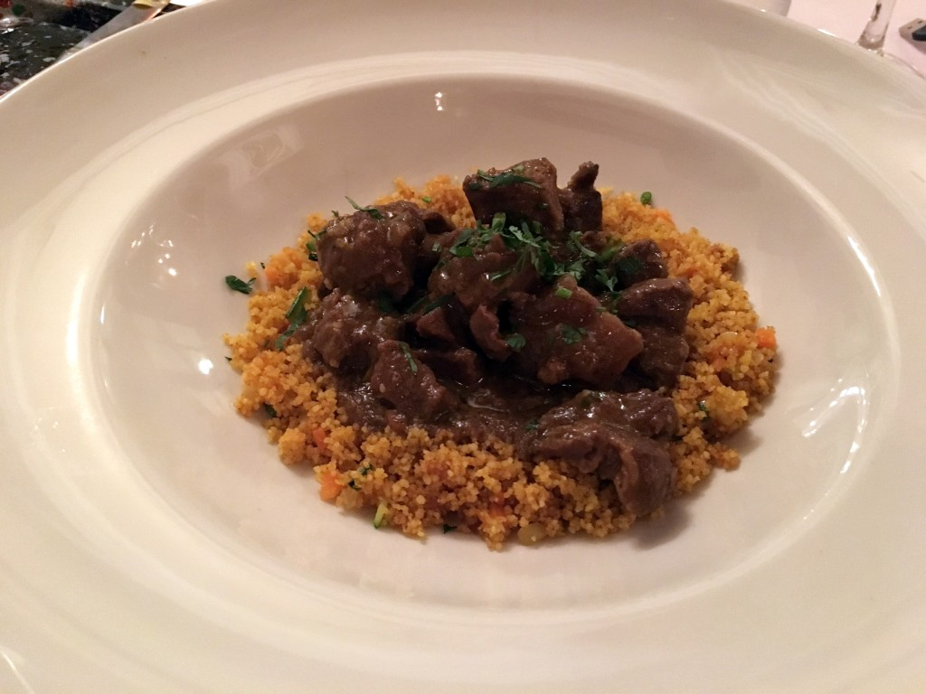 Lamb Curry at Krystal Fusion Restaurant at the RIU Palace Riviera Maya